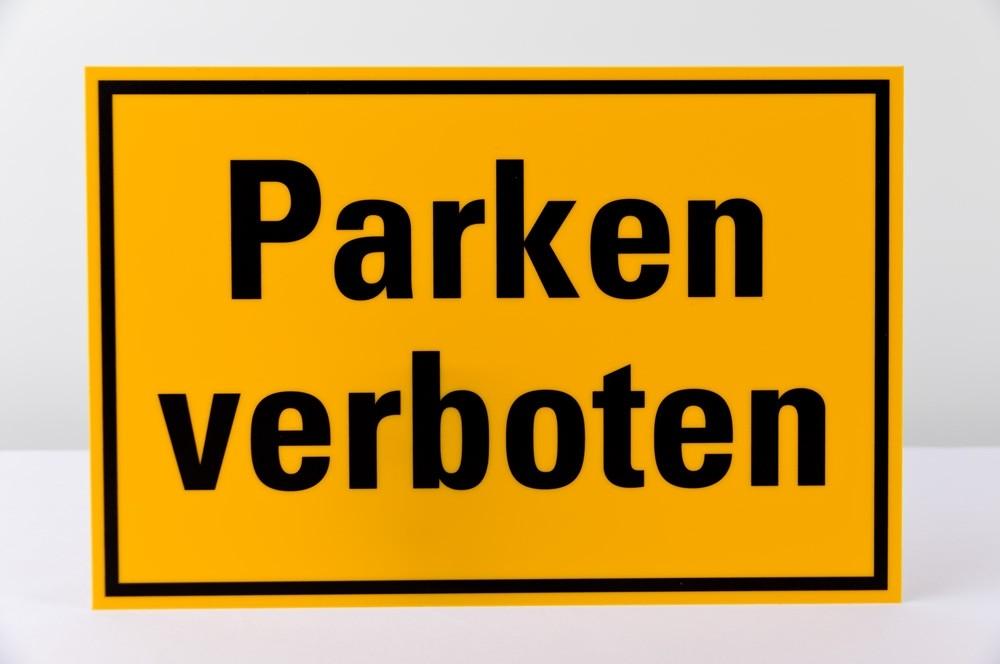 """""""Parken Verboten"""" Schild - 200 x 300mm"""