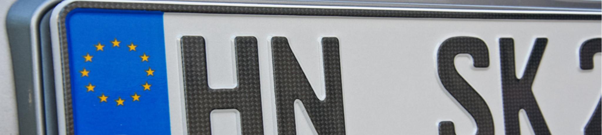 Autokennzeichen Carbon
